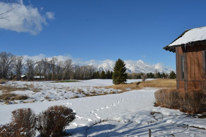 Tetons and golf course