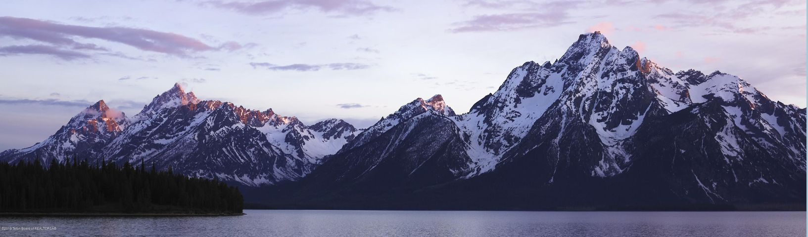 teton range with lake