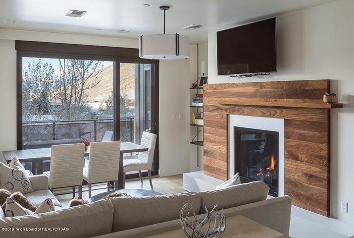 Walnut Fireplace
