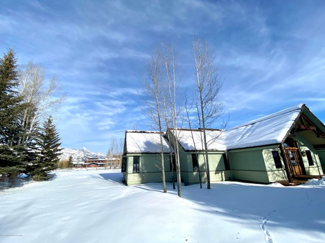 front exterior and teton winter
