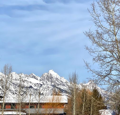 teton winter view from deck