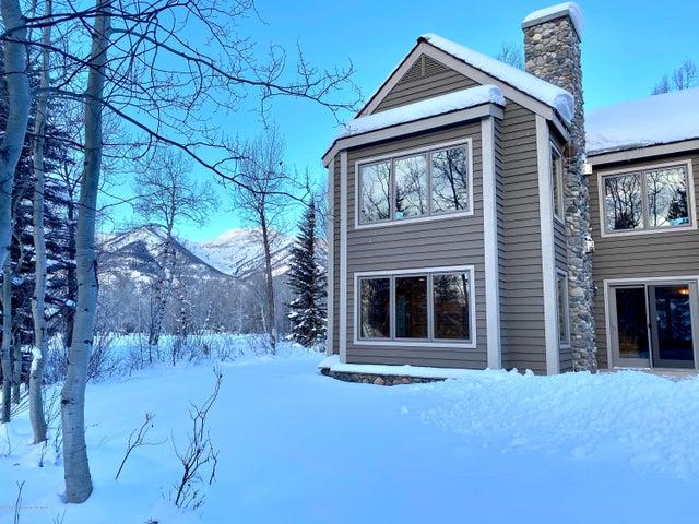 side yard winter view