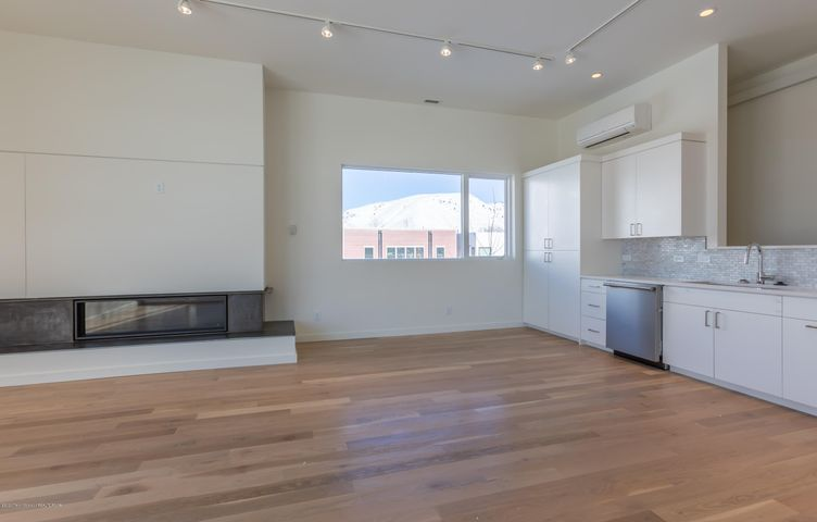 Living and gas fireplace