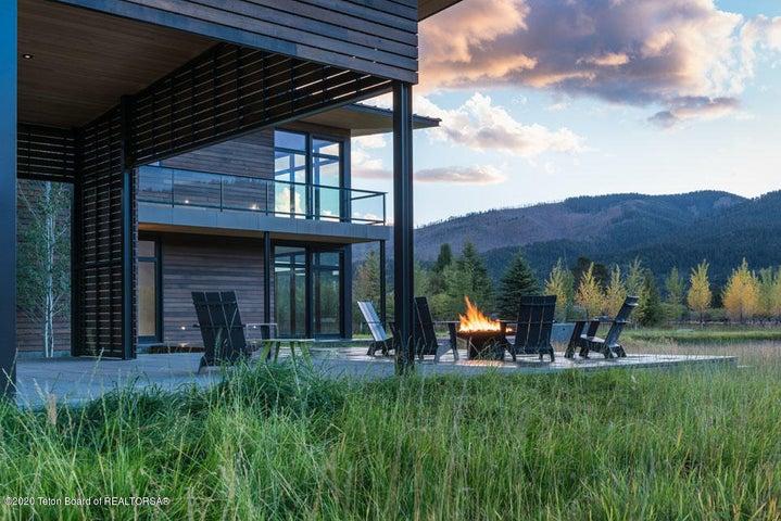 34 Ext Summer Evening W Terrace, Fire +