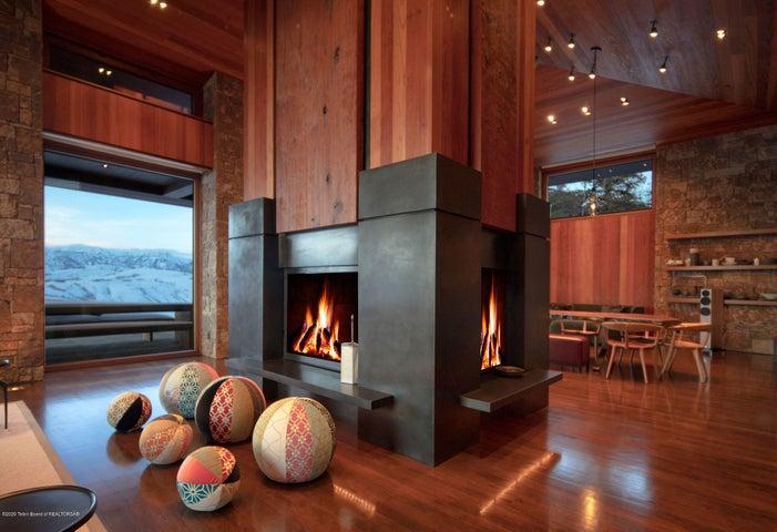 4 Sided Bronze Fireplace