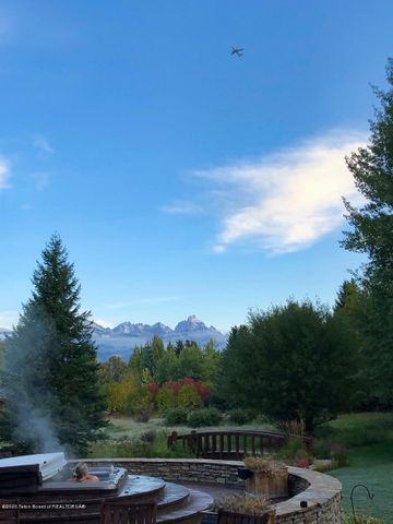 Hot Tub & Tetons