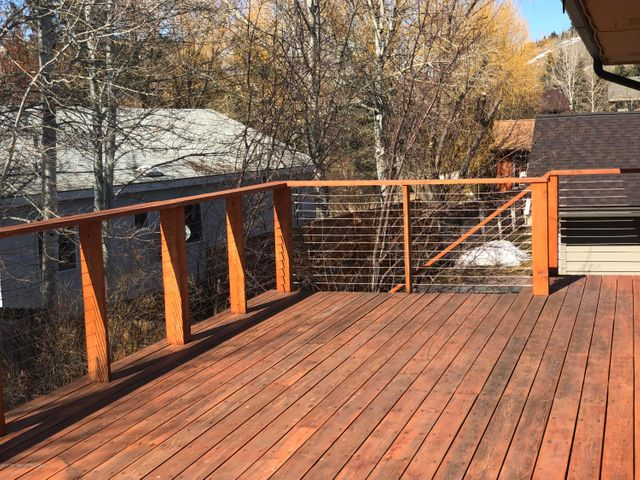 Large deck for barbeques