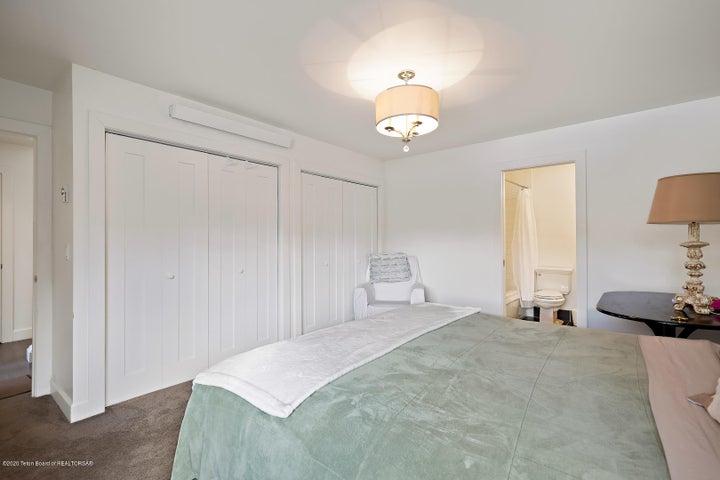 Ample storage in master bedroom