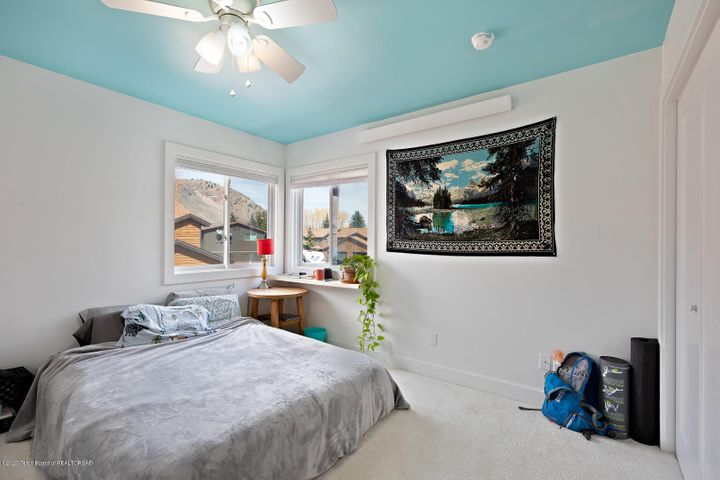 Upstairs bedroom with Snow King views