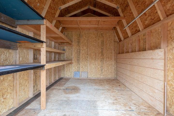 Storage Shed Interior