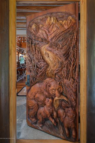 Hand Carved Front Door