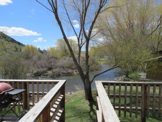 Deck steps to creek
