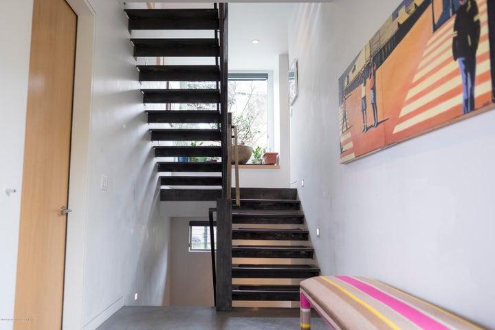 gun metal stairway