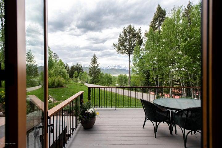 north-facing deck