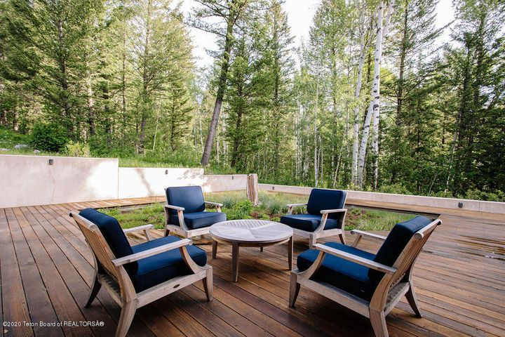 Deck Seating in the Forest