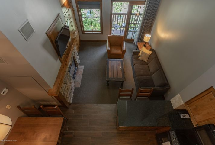 Looking Down to Living Room