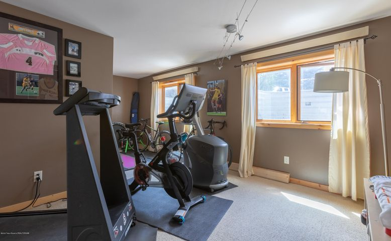 Downstairs excercise room