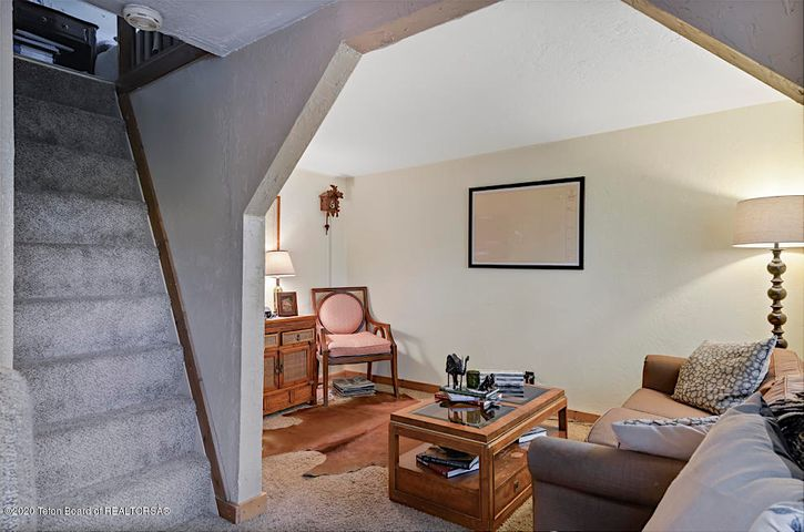 Stairs to sleeping loft