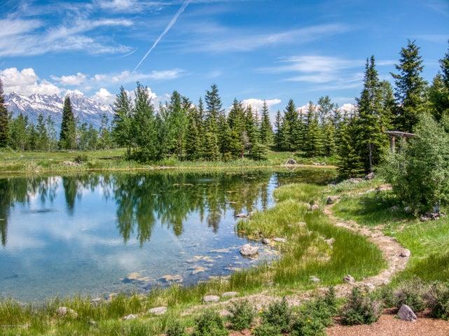 Pond and Tetons