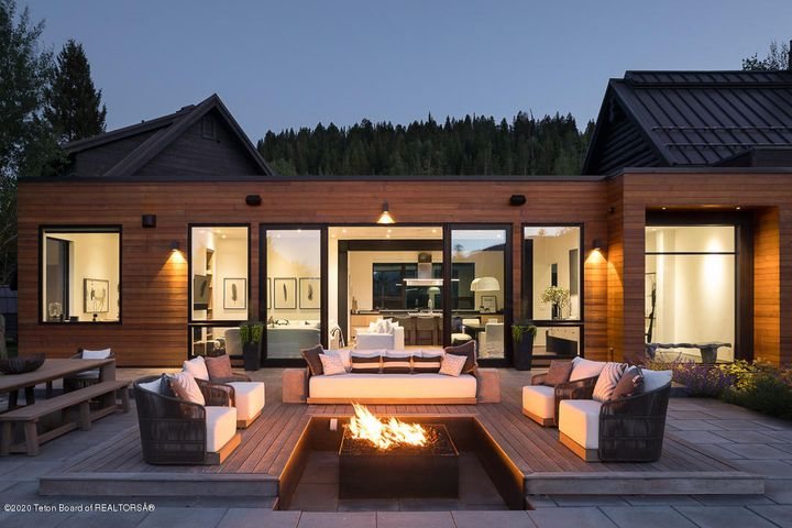Evening Terrace with Firepit