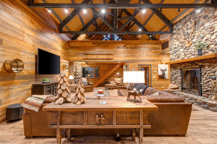 Grand living area and loft