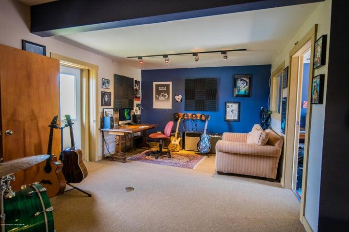 Bonus room/Music room off garage