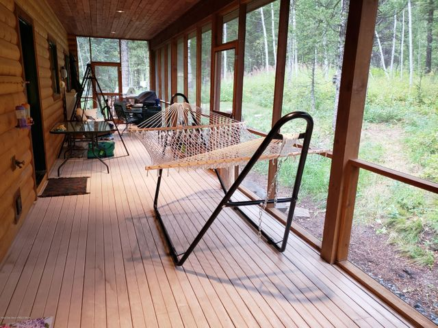 screened north porch