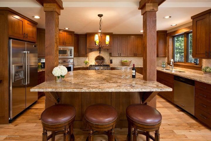 Blue Moose Lodge Kitchen Island
