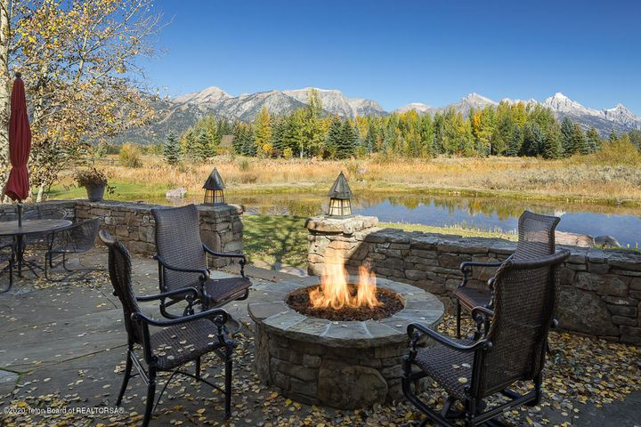 Fall Fire Pit View