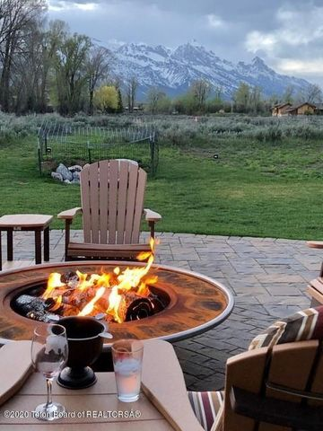 firepit and Tetons