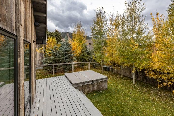 Backyard Deck & Hot Tub