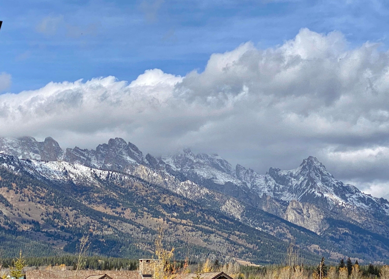 Teton view from backyard