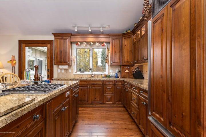 Kitchen with views of the Grand Teton