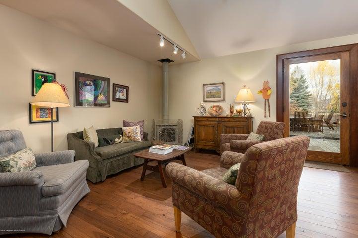 Living room near kitchen