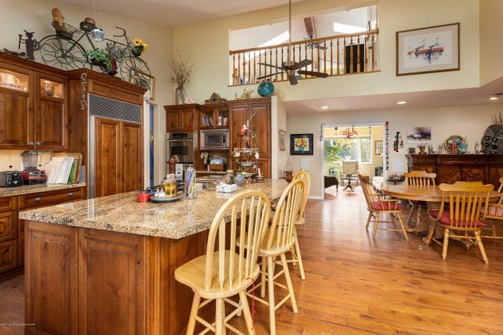 Kitchen with loft view