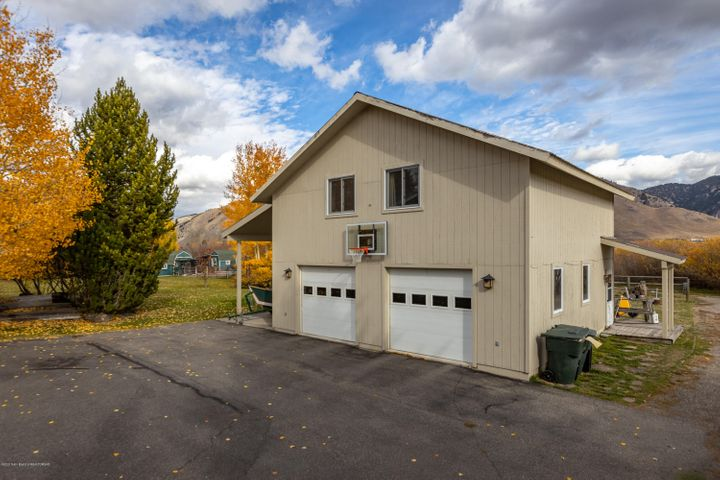 Garage with guest house