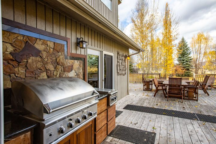 Deck with professional grill area