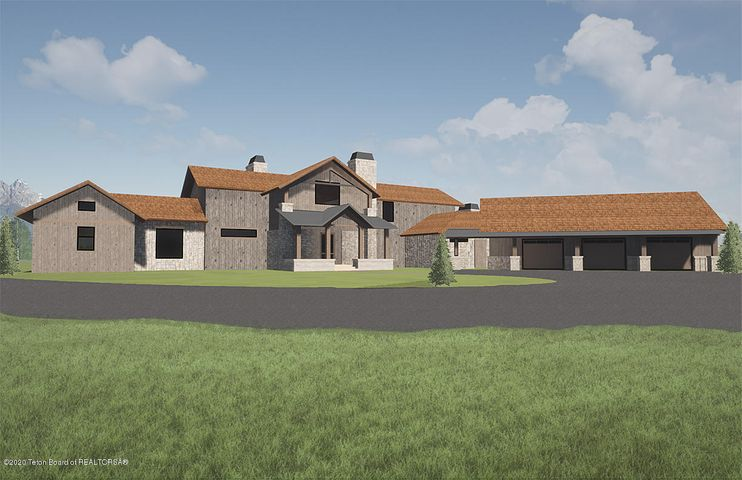 South facing-Front of house-rendering