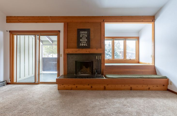 Wood Burning Fireplace + Day Bed