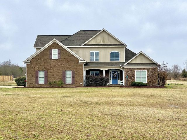 Check out this beautiful home in the Saltillo School District. This house sits on 2 acres and has 2,972sqft with 5 BR and 3 full BA. It features a spacious open floor plan perfect for entertaining guests. The master suite is a dream; it is a spanning bedroom and bathroom with his/hers vanities and closets. The laundry room is large with plenty of storage. All info subject to verification.