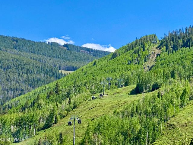 You choose, which is nicer, blue sky or green mountain in Vail, view from deck!