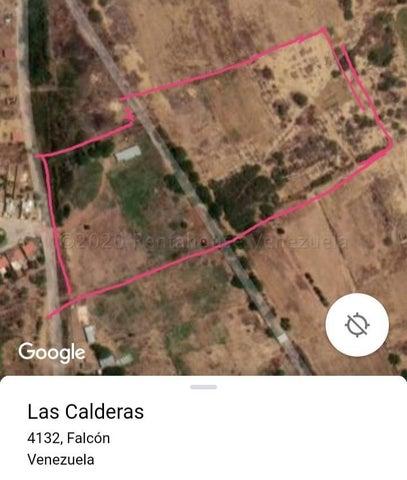 Terreno Falcon>La Vela de Coro>Las Calderas - Venta:8.000 Precio Referencial - codigo: 21-8708