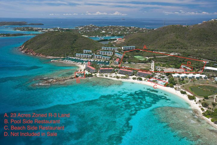 Includes beach bar and restaurant and 23 acres of development land for hotel/condo/villas/time share