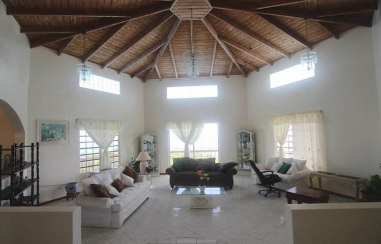 Huge living area with cathedral ceiling