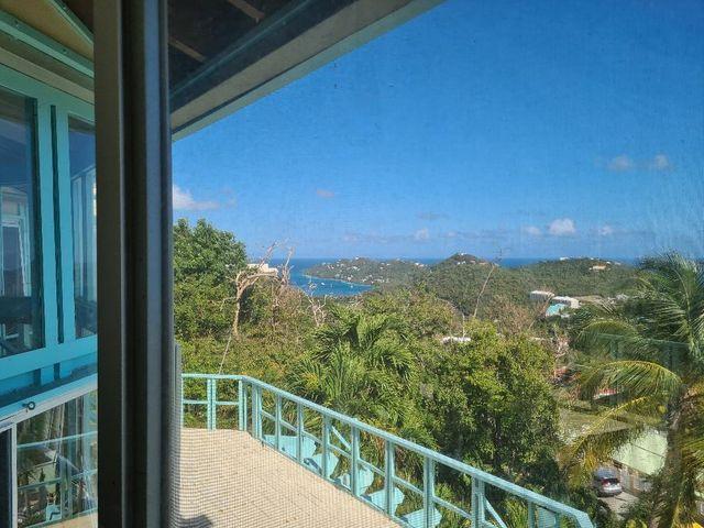 Pretty water views to back of Magen's Bay