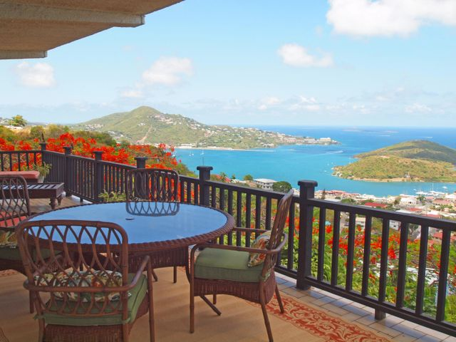 Enjoy your morning coffee here or watch the sun set over the Caribbean Sea.